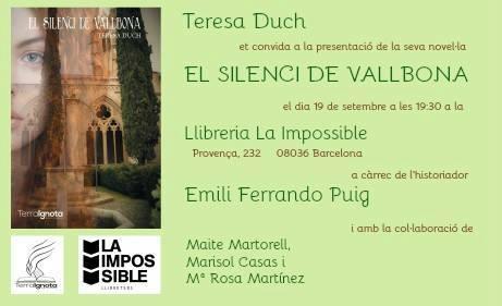 el-silenci-de-vallbona-teresa-duch-la-impossible-presentacion-libreria-llibreria