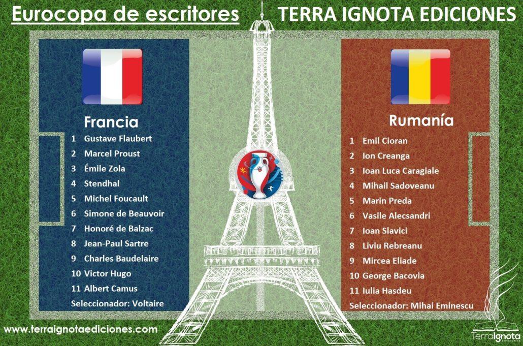 Eurocopa de escritores Francia Rumania Terra Ignota Ediciones www.terraignotaediciones.com Publicar y editar un libro enviar manuscrito a editorial