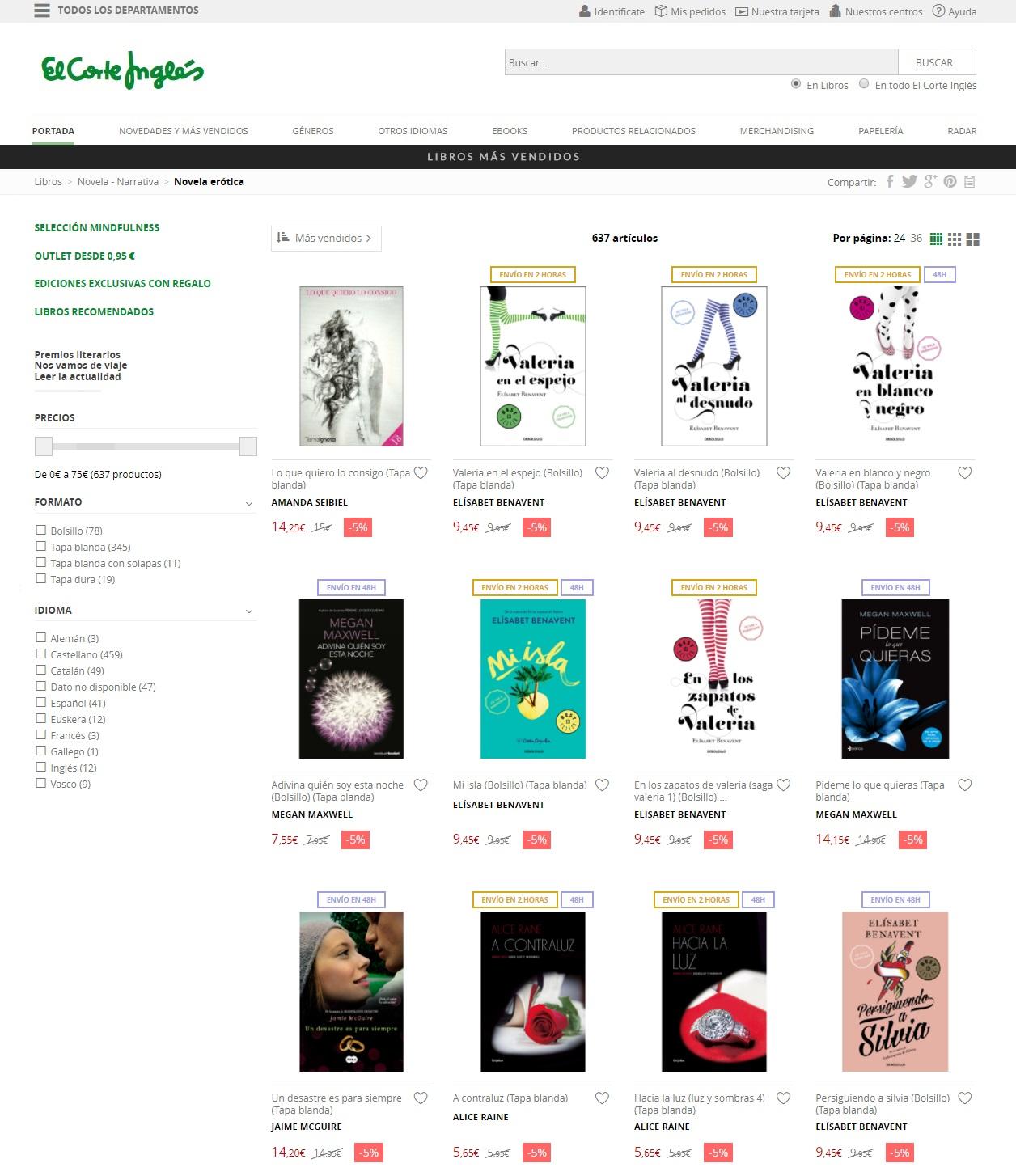 Amanda seibiel ya est entre los 10 libros m s vendidos en - Libreria el corte ingles ...